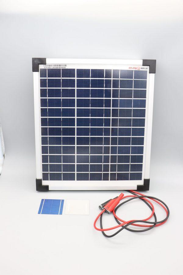 Panneau solaire 10W/12V version didactisée